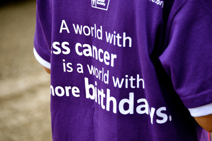 Fighting for less cancer and more birthdays!